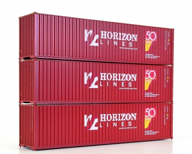 Walthers (H0) – drei 40-ft-Container der Horizon Lines