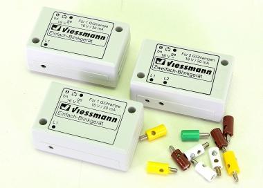 Viessmann – Blinkelektronik, 2 x Zweifach, 1 x Einfach, ohne Glühlampen