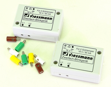 Viessmann – Blinkelektronik, 2 Zweifach-Blinkgeräte, ohne Glühlampen