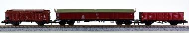 Fleischmann 8204/Minitrix 13531, 11429.5 - 3-tlg. Güterwagen-Set der DB