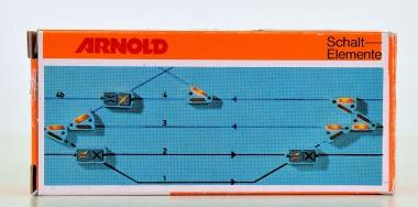 Arnold 7220 - Weichenschalter für Gleisbildstellpult, 2 Stück