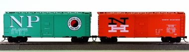 Roundhouse – 2x 40' Boxcars, New Haven und Northern Pacific
