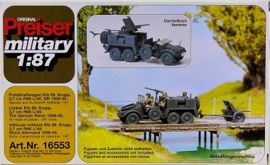 Preiser 16553 (H0) - Bausatz Protzkraftwagen Kfz 69