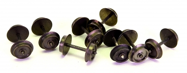 H0, 8 Stück 3-Leiter/Wechselstrom Radsatz 11,0 mm x 24,75 mm, dunkel