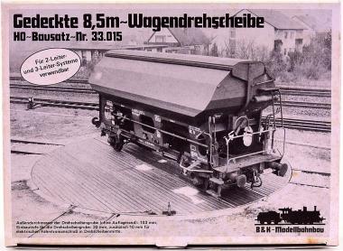 B&K 33.015 (H0) – Bausatz Gedeckte 8,5m Wagendrehscheibe