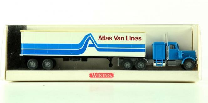 Wiking 5270029 (1:87) – Cotainer Sattelzug 40 ft. Atlas Van Lines
