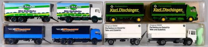 Wiking / Faller (1:87) – Pritschen-/Koffer-LKW-Set