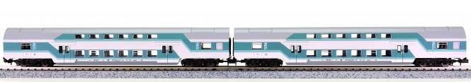 Kuehn-modell 91055 (N) – 2. Klasse Doppelstock-Wagen-Set der DR (DDR)