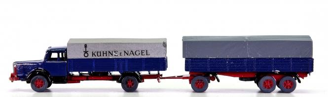 MZZ (1:160) – Krupp Titan Kühne & Nagel mit Hänger, Metall-Modelle
