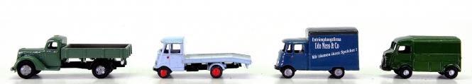MZZ (1:160) – 4-teiliges Nutzfahrzeug-Set u.a. Mens, Metall-Modelle