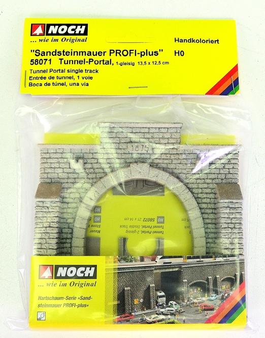 Noch 58071 - Tunnelportal 1-gleisig, 135 x 125 mm, Sandsteinmauer