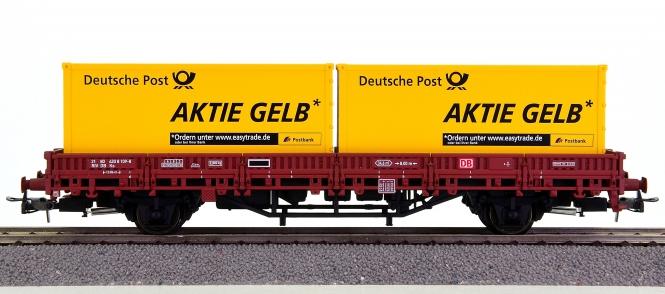 Electrotren 1528 – Rungenwagen Ks der DB AG, mit 2 Post-Containern