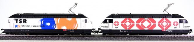 Märklin 34631 – 2 Elektroloks Re 460 Schweizer Fernsehen der SBB, digital (MM)