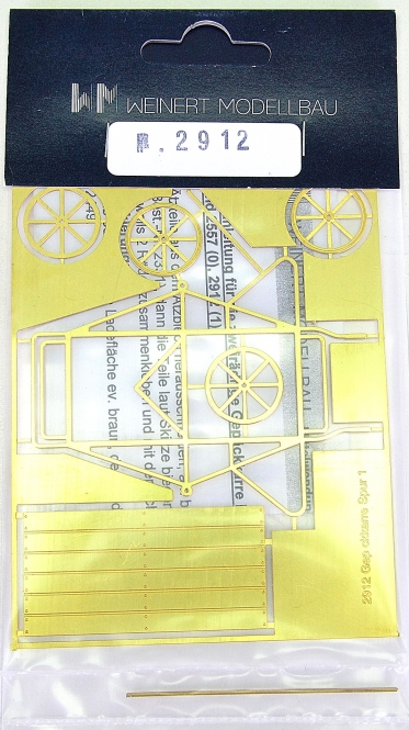 Weinert 2912 (Spur 1) – Bausatz Zweirädrige Gepäckkarre