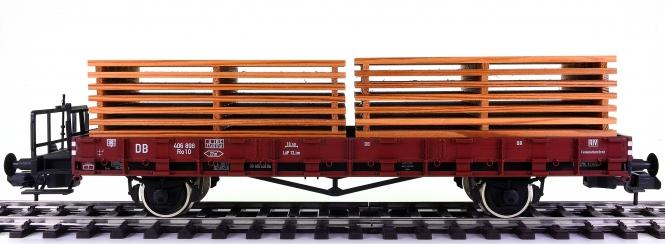 Märklin 58491 (Spur 1) - Rungenwagen Ro 10 der DB, mit Bretterstapeln