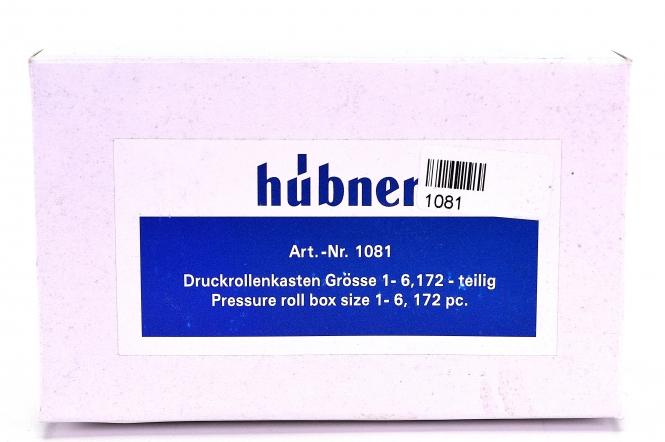 Hübner 1081 (Spur 1) – Druckrollenkästen Größe 1 – 6, Bausatz, 172-teilig