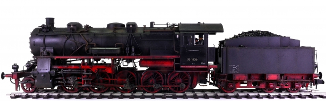 Märklin 55581 (Spur 1) – Dampflok BR 58 der DB, digital + Becasse Weathering