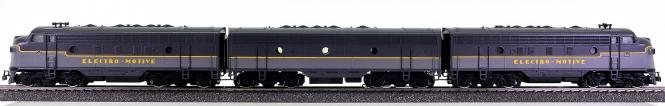 Märklin 3649 – Diesellok Typ EMD F 7, 2 x A- und 1 x B-Unit, digital