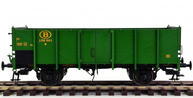 Lenz 42110-10 (Spur 0) – Hochbordwagen Om12 mit Bremsanlage der SNCB