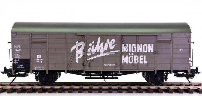 Lenz 42212-06 (Spur 0) - Gedeckter Güterwagen Glr 22 Bähre Mignon der DB