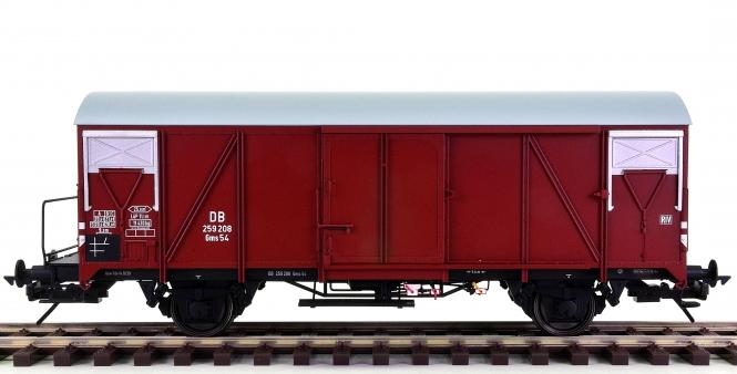 Lenz 42235-01 (Spur 0) – Gedeckter Güterwagen Gms 54 der DB