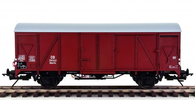 Lenz 42233-01 (Spur 0) – Gedeckter Güterwagen Gms 54 der DB, Zugschluss