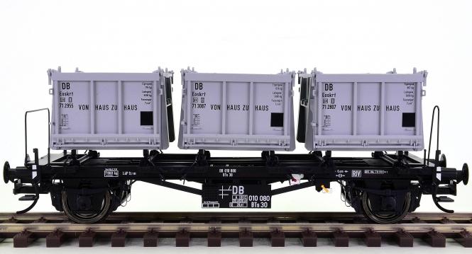 Brawa 37162 (Spur 0) – Behältertragwagen BTs 30 der DB