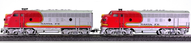 Märklin 3060/4060 – Doppel-Diesellok (A-Unit) Typ EMD F7 der Santa Fe
