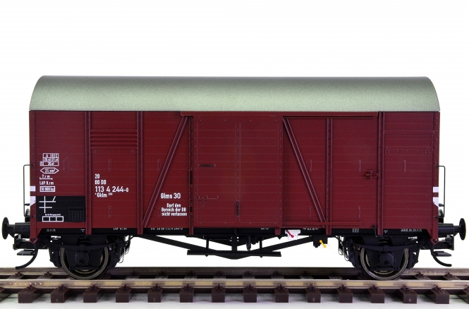 Brawa 37183 (Spur 0) - Gedeckter Güterwagen Gklm Oppeln der DB