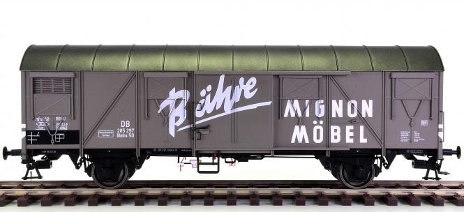 MBW 80211 (Spur 0) – Gedeckter Güterwagen Glmhs 50 Bähre Möbel der DB