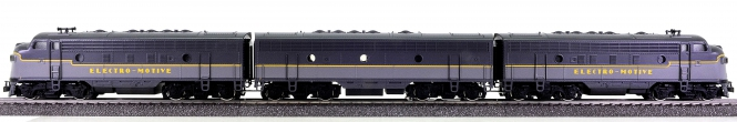 Märklin 3649 – 3-tlg. Diesellok Typ EMD F 7, 2 x A- und 1 x B-Unit, digital
