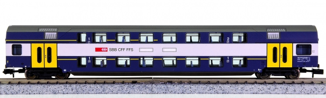 Fleischmann 8154 K (N) – 1./2. Klasse Doppelstock-Personenwagen der SBB