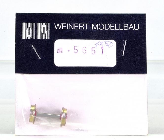 Weinert 5651 - Vorlauf-Radsatz RP25, 7 Speichen, d=9,8mm