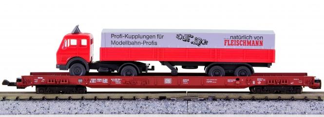 Fleischmann 8274 (N) – Niederflurwagen rollende Landstraße der DB