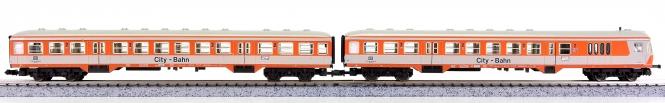 Fleischmann 8123/8125 (N) – 2-tlg. Nahverkehrswagen-Set City-Bahn der DB