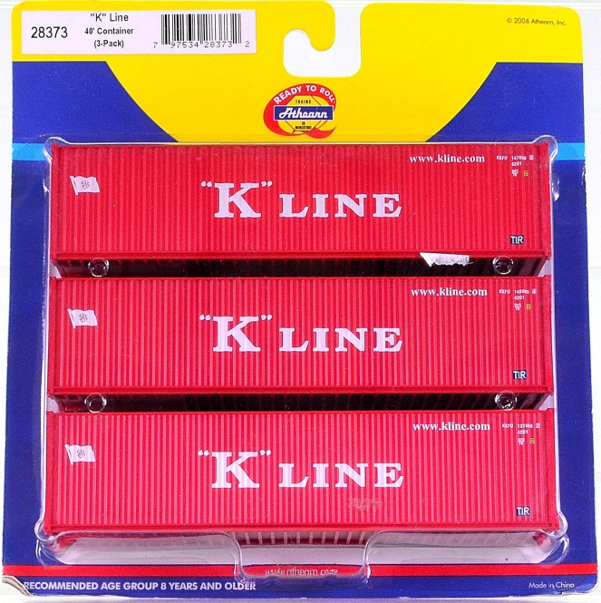 Athearn 28373 – 40 ft. Container-Set der K-Line
