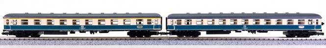 Trix (N) – 2-tlg. Schnellzug-Personenwagen-Set der DB, mit Innenbeleuchtung