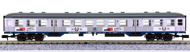 Fleischmann 8142-1 K (N) – 2. Klasse Nahverkehrs-Wagen Silberling Miba der DB