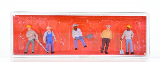 Preiser 10031 (H0) – 6er Set US-Gleisbauarbeiter (1)