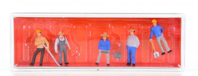 Preiser 10031 (H0) – 6er Set US-Gleisbauarbeiter (2)