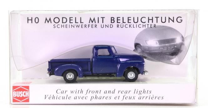 Busch 5643 – Chevrolet Pick-up mit Beleuchtung, blau