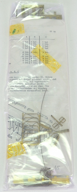 Gerard (H0) ET 10 13/15 – Ausführung B, u.a. Dachrinne + Dachlaufbrett