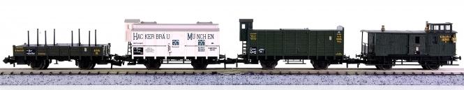 Trix (N) – 4-teiliges Güterwagen-Set der K.Bay.Sts.B.