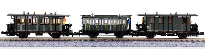 Trix (N) – 3-teiliges Lokalbahn-Wagen-Set der K.Bay.Sts.B.