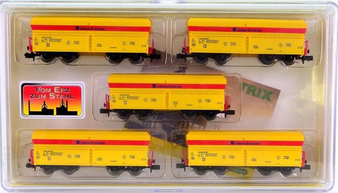 Trix 15240 (N) – 5-tlg. Selbstentladewagen-Set der Eisenbahn und Häfen GmbH