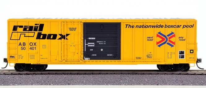 ExactRail EE-1801-1 – FMC 5277 Combo Door Box Car der ABOX