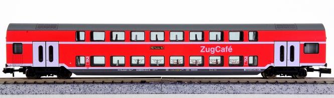Fleischmann 8626 K (N) – 2. Klasse Doppelstockwagen mit Zug-Cafè der DB AG