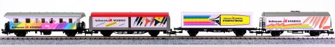 Fleischmann 8807 (N) – 4-teiliges Wagen-Set Rollendes Malstudio