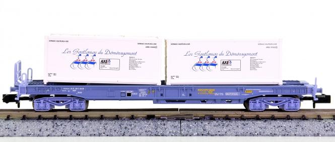 Trix 15637-04 (N) – Einheitstaschenwagen der SNCF, beladen