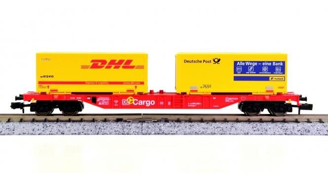 Fleischmann 86 8250 K (N) – Container-Tragwagen der DB AG, beladen